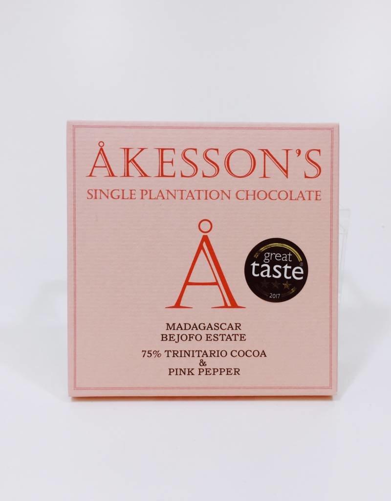 Akesson Madagascar 75% Trinitario & Pink Pepper Organic