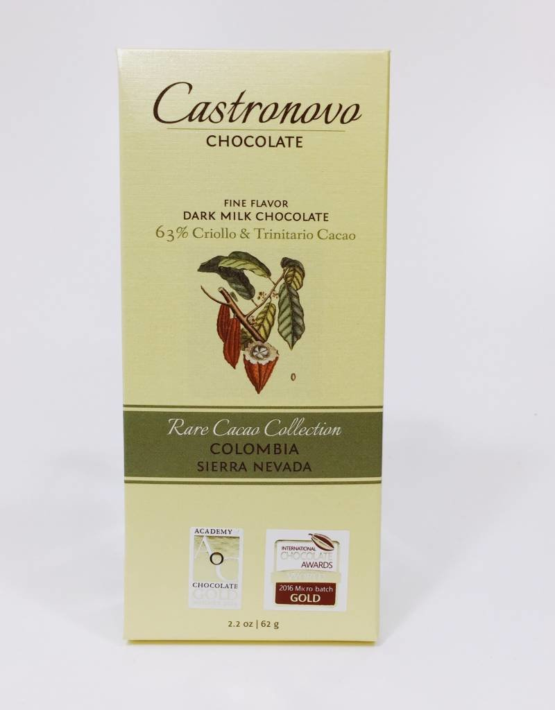 Castronovo Castronovo Sierra Nevada Dark Milk Colombia 63%