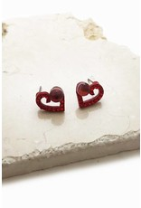E'TE' ROSE HEART W/CRYSTAL STUD