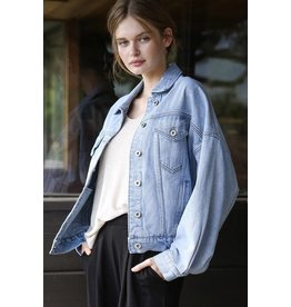 MAINSTREET COLLECTION BLUE JEAN JACKET