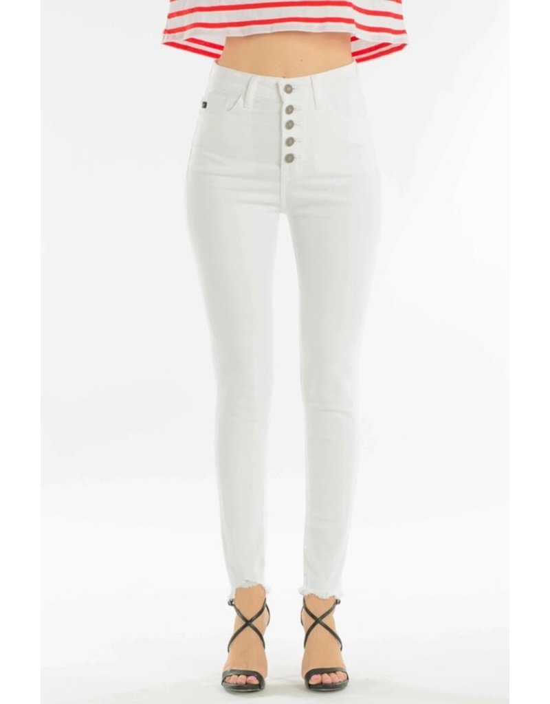 Kancan Five pocket super skinny white