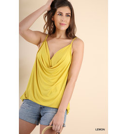 UMGEE BASIC COWLNECK SPAGHETTI STRAP TOP