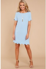 MAINSTREET COLLECTION SCALLOP DRESS