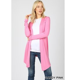ZENANA DRAPEY LONG SLEEVE CARDIGAN