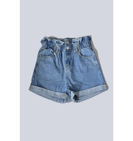 Trend Shop HIGH WAIST PAPER BAG DENIM SHORTS