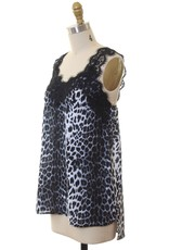 FASHION DISTRICT LA LACE TRIM LEOPARD TANK