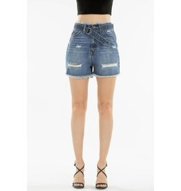 "NATURE DENIM 12"" RISE DENIM SHORTS W/BELT"