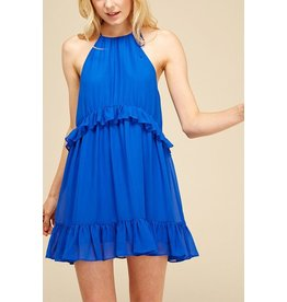 BIANCO BLUE SOLID DRESS