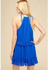BIANCO BLUE SOLID DRESS