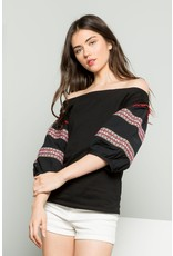 Thml OFF SHOULDER BALLOON SLEEVE TOP
