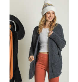 UMGEE Charcoal open front oversized cardigan