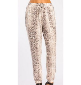 Cherish Snake print brushed joggers