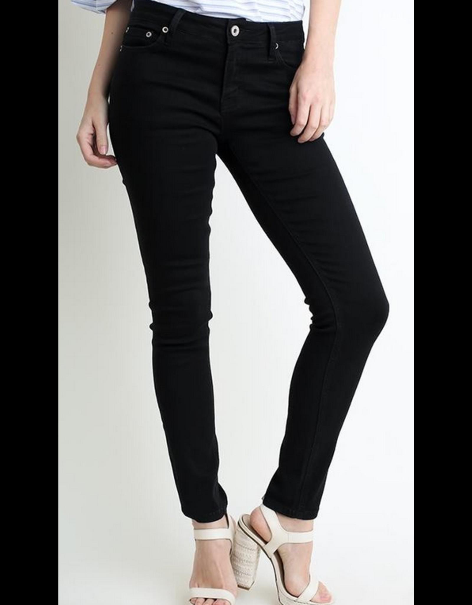 UMGEE Black stretch 5 pocket mid rise skinny jeans