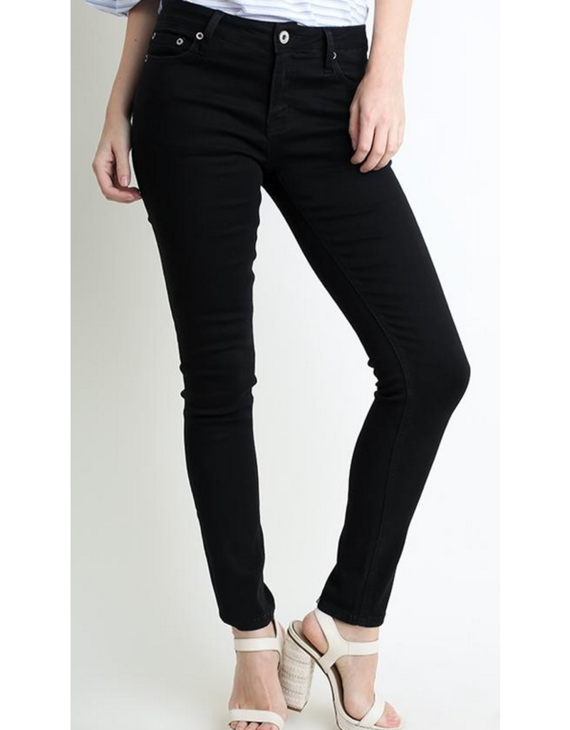 UMGEE Black stretch 5 pocket mid rise skinny jeans