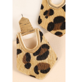 Avenue Zoe Pentagon shaped animal print and calf hair
