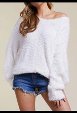 BIBI Popcorn sweater ivory
