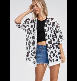 Phil Love Leopard print kimono