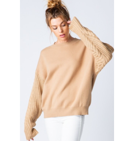 Trend Shop Cable sleeve sweatshirt