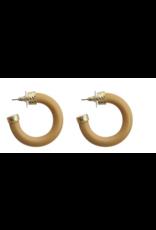 MAINSTREET COLLECTION Wooden hoop earring
