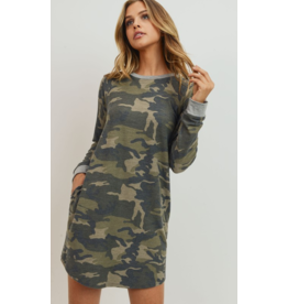 Cherish Camo dress with pockets