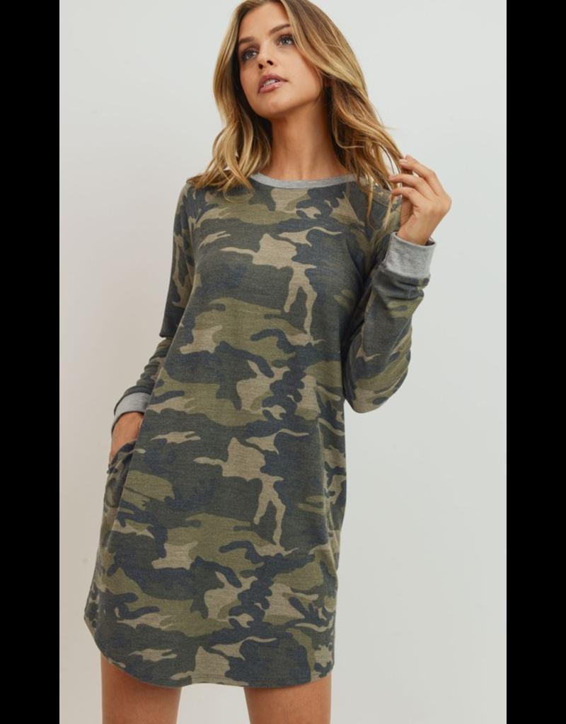 Cherish Camo dress with pockets