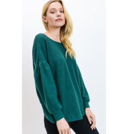 Cherish Long sleeve open back sweater