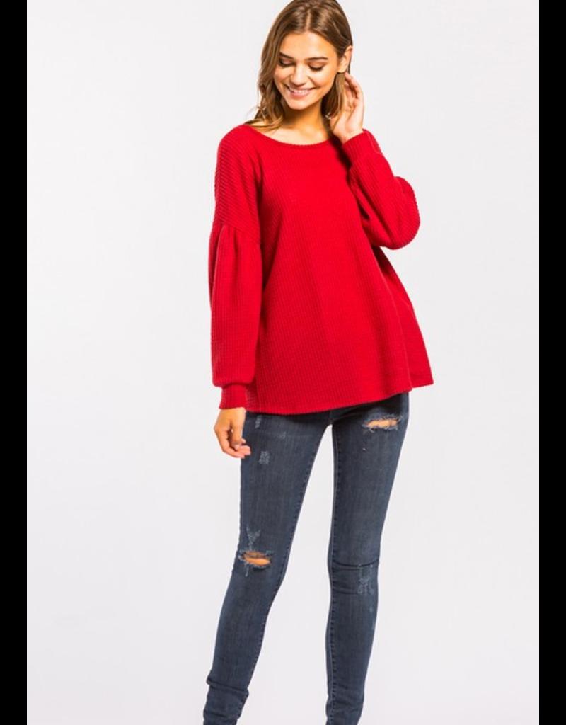 Cherish Long sleeve open back sweater