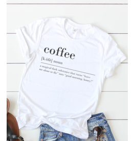 kissed Appereal Coffee definition graphic tee