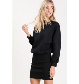 RACHAEL Long sleeve midi dress