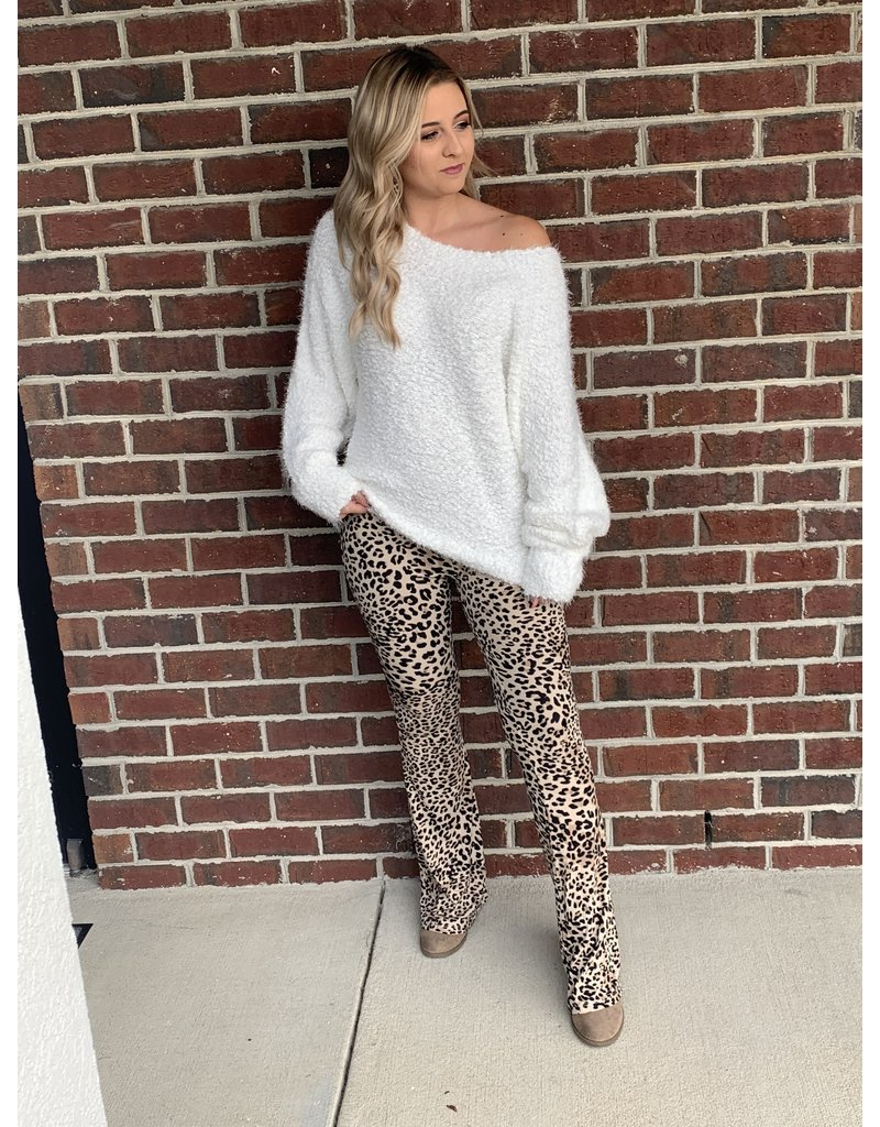 MAIN STRIP High waist leopard bootcut pants