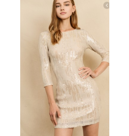 DRESS FORUM Metallic stripe dress
