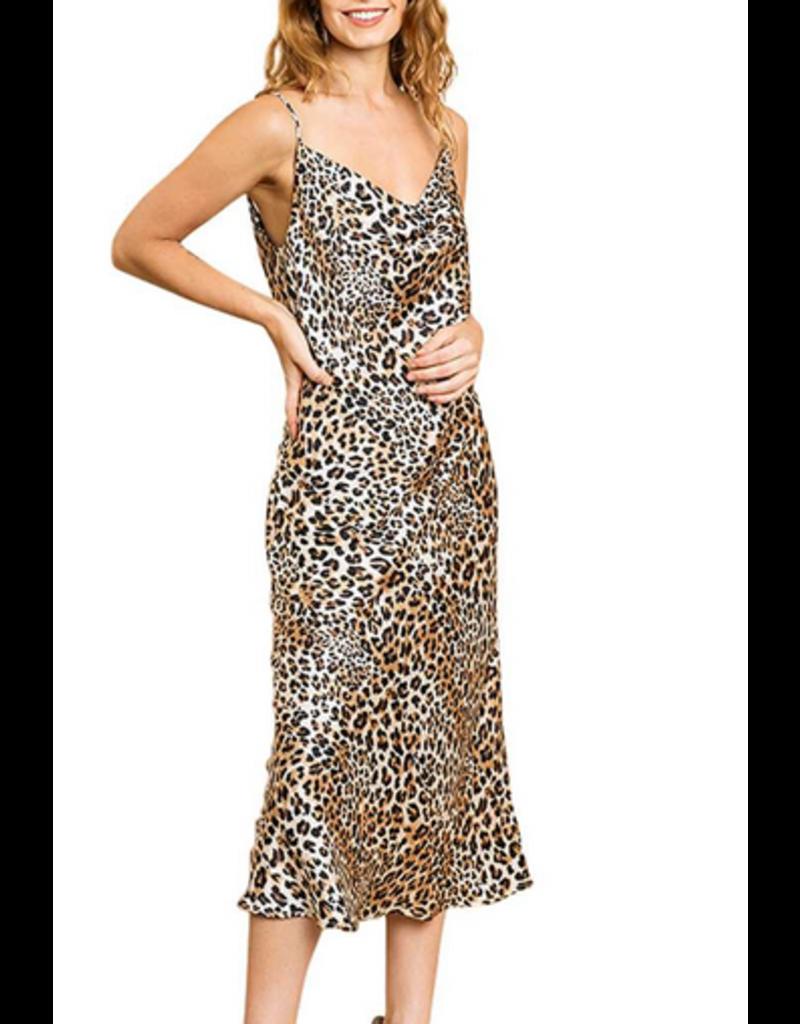 UMGEE Satin cowl neck slip dress