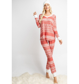 143 STORY Cashmere feel pj christmas 2 piece set