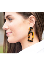 MAINSTREET COLLECTION Tortoise rectangular earring