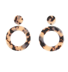 MAINSTREET COLLECTION Tortoise circle earrings