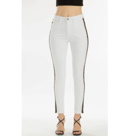 Kancan High rise skinny with leopard tape