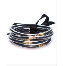 all weather bangles black