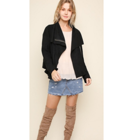 UMGEE Suede zip up moto jacket