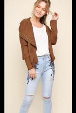 UMGEE Suede zip up moto jacket
