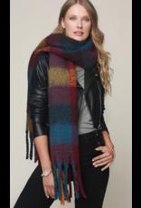 Urbanista Super soft brushed plaid oblong scarf