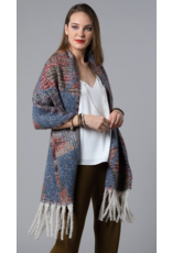 Urbanista Printed patterned tassel knit scarf