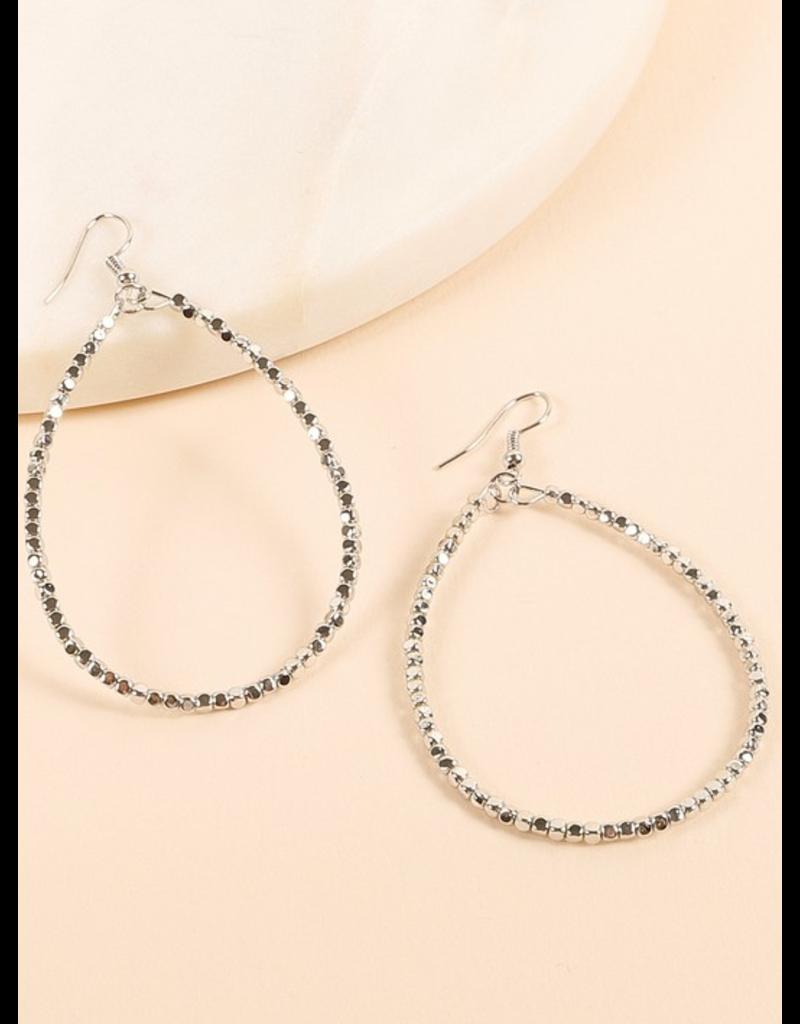 Avenue Zoe Tear drop mini metal bead earrings