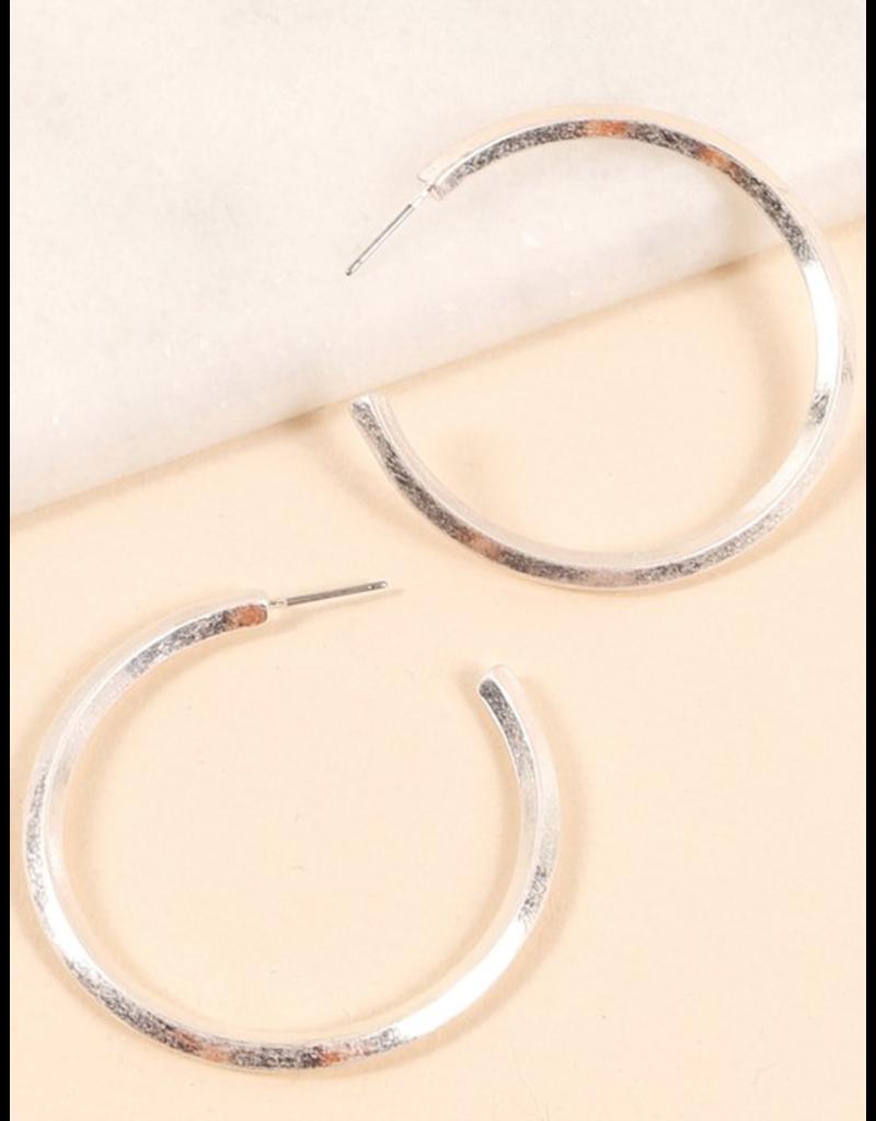 Avenue Zoe Metal open hoop earrings