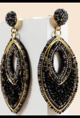 Avenue Zoe Seed beads sequins pear shape earrings