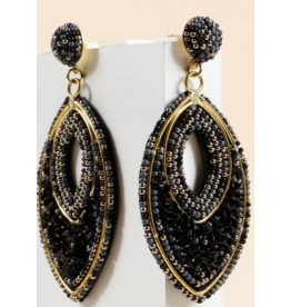Avenue Zoe Seed beads sequins pear shape earrings
