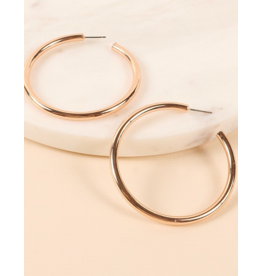 Avenue Zoe Round metal open hoop earrings