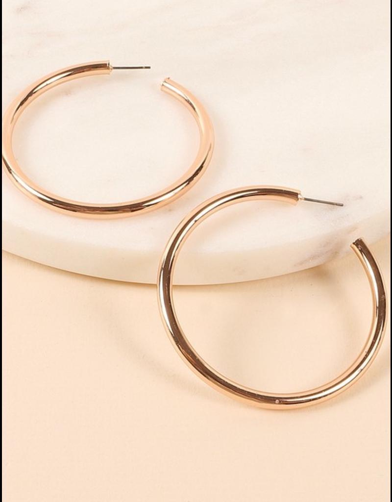 Avenue Zoe Round metal open hoop earrings