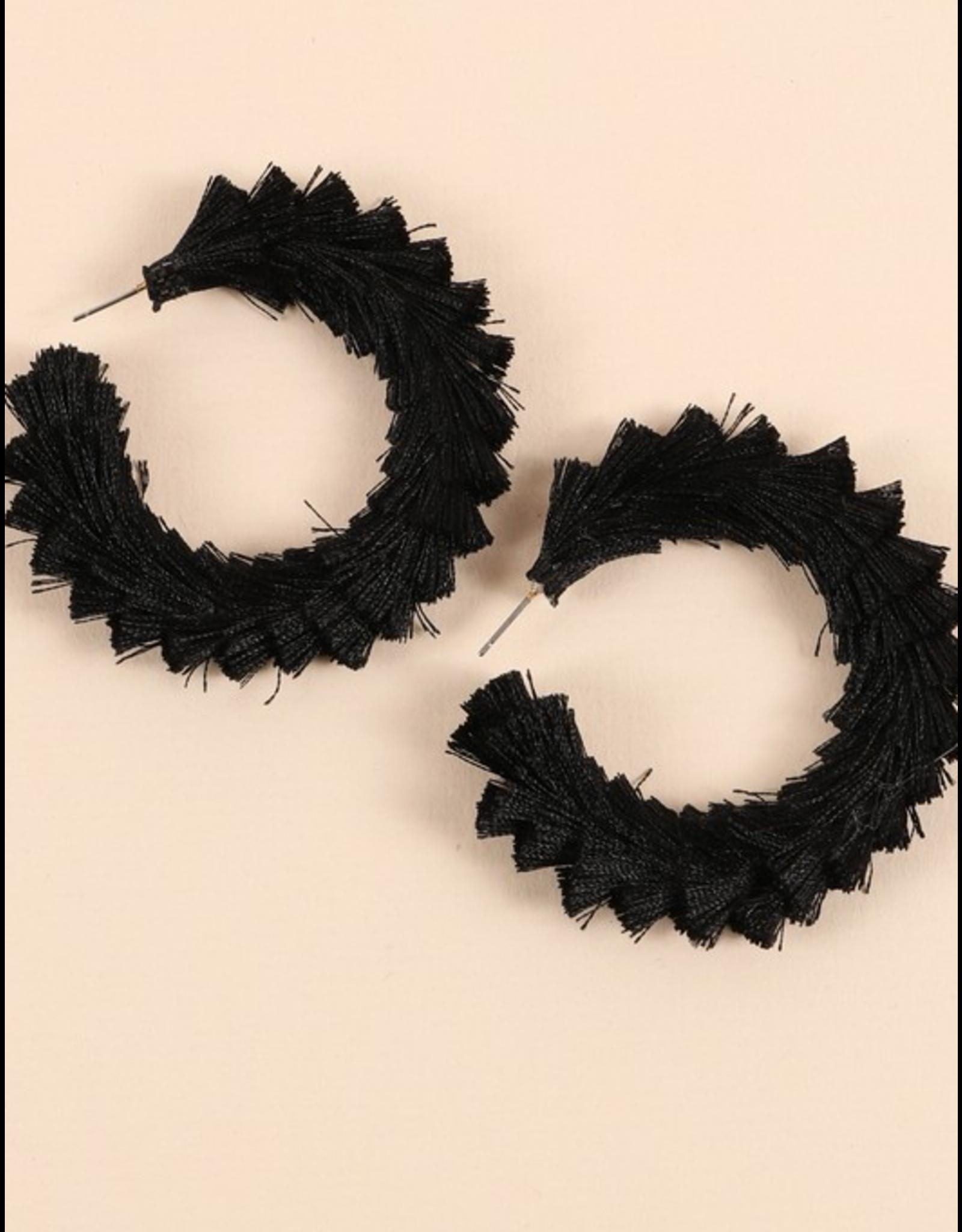 Avenue Zoe Tassel open hoop earrings