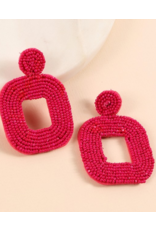 Avenue Zoe Seed beads square dangle earrings