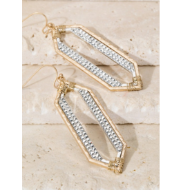 Urbanista Geometric Pave Rhinestone Dangle earrings